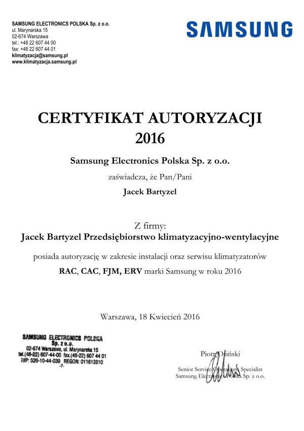 Samsung RAC, CAC, FJM, ERV 2016
